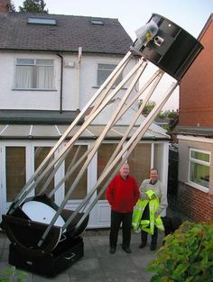 """The 30"""" F-6 TROK Dobsonian Telescope. Named TROK for its creators, Thomson, Regan, Owen and King, it was built in the UK and sold to a buyer in Bulgaria in 2014. - #Telescopes #Dobsonian"""