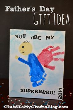 You Are My Superhero | Simple Father's Day Gift Idea!! My husband would love to receive something like this from our little girls!! Too cute!