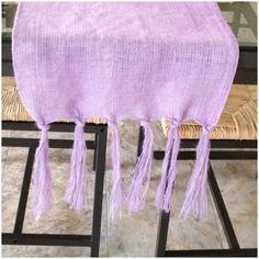 DIY dyed burlap table runner