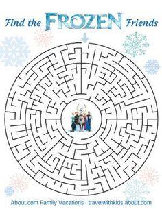 Free Disney Printable - Frozen Maze