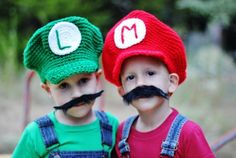 Not that you are going to crochet their hats... lol.Just cute inspiration!