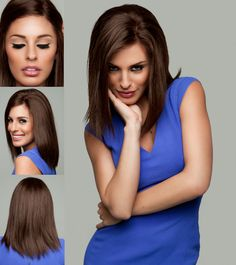 Amore Blair is a super chic 100% remy human hair lob style wig - Available at Wigs.com