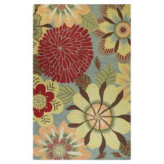 Hand-tufted wool rug with oversized floral motif.  Product: RugConstruction Material: 100% WoolColor: