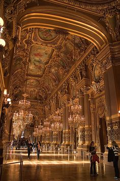 Paris Opera House is one of the most beautiful buildings in the world.