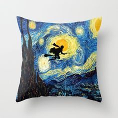 Van gogh Harry potter starry night Decorative cushion Pillow Case