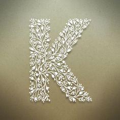 Botanical Alphabet on Typography Served wär das schön für Konrad Alphabet Design, Creative Lettering, Lettering Design, Paper Art, Paper Crafts, Wax Paper, Typography Served, Typography Poster, Graphisches Design
