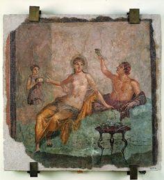 Affresco con bacchettante ed etera #ercolano #herculaneum #ruins #scavidiercolano #pompeii #hotelpompei #villadeipapiri #pompei #excursions #travel #italy #faunopompei