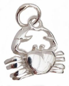 Silver crab charm on chain £21.95