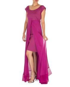 Three panelled purple gown | Shop now: www.thesecretlabel.com