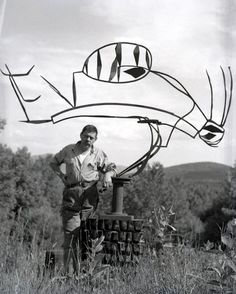 """Australia"" - David  Smith with one of  his sculptures. He is one of my favourite sculptors."