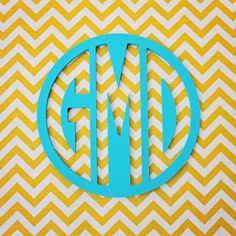 Wood Circle Wall Monogram - LOVE this!