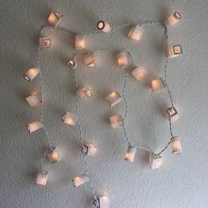 Lichterkette weisse Laternen