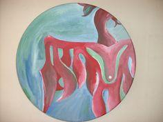 """Fenix"" Acrylic on ceramic plate 30 cm. diameter ca. -"
