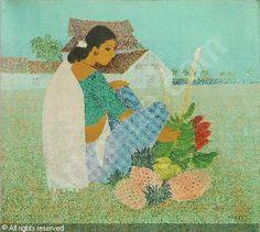 artist Badri Narayan Shridhar (1910~1992, India)