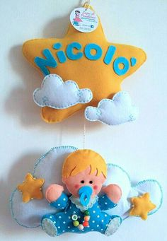 Per Nicolò stellina  e bebè su una nuvola! Creato da Sogni di Pannolenci