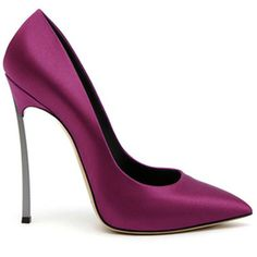 Casadei, in a glorious orchid colour... Pantone's, 2014, Colour of the year!