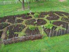 Edible Landscaping: Permaculture - Kitchen Garden jardin potager bauerngarten köksträdgård #potagergarden