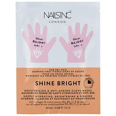 Shop NAILS INC.'s Shine Bright Moisturising & Anti-Aging Hand Mask at Sephora. It helps firm, hydrate, brighten the look of hands. Best Anti Aging Creams, Anti Aging Tips, Anti Aging Skin Care, Nails Inc, Skin Care Regimen, Skin Care Tips, Skin Tips, Sephora, Cc Creme