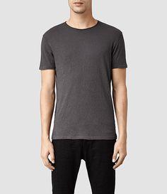 Men's Figure Crew T-Shirt (Washed Black) -