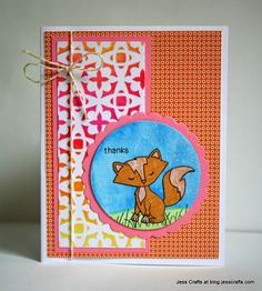 Jess Crafts Fox  card using Sweetheart Tails stamps by Newton's Nook Designs