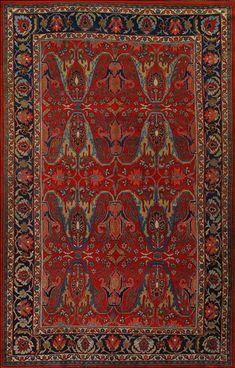 Antique Bijar Carpets –  Circa:1890 Sizes:7.6X11.9