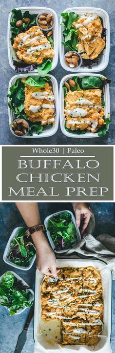 Whole30 Baked Buffalo Chicken Casserole - Meal Prep on Fleek