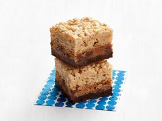 Bake Sale Trifecta Bars recipe from Food Network Magazine via Food Network-  brownie, cookie, rice crispy layers
