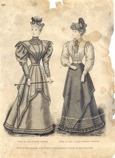 The Delineator: 1894 - Annie was dressed just like this until she took to a life of cycling