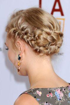 AnnaSophia Robb's multi-braided updo.