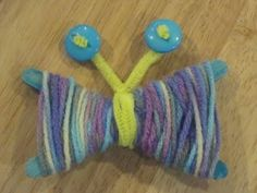 Yarn Butterflies Spring Craft: Kids Crafts Project