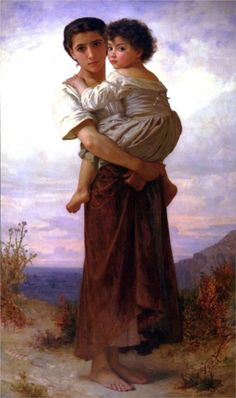 The hard lesson - William-Adolphe Bouguereau - WikiPaintings.org