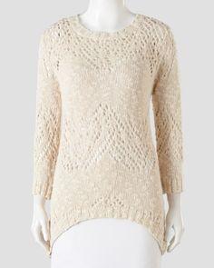 Crochet High/Low Sweater