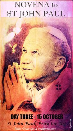 NOVENA to St John Paul the Great:  DAY THREE – 15 OCTOBER  Little Known Fact #3:  During his fourth year of Theological studies, Karol Wojtyla felt an increasing call to enter a Carmelite monastery.   In the same year, one of his good friends, Br Leonard Kowalowka, was appointed Novice Master at a Carmelite .....#mypic