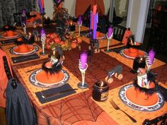 Fabulously Decorated Halloween Dining Table