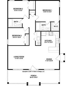 3 Bedroom House Floor Plan floor plan for affordable 1100 sf house with 3 bedrooms and 2 bathrooms Small House Floor Plan This Is Kinda My Ideal Wtf A