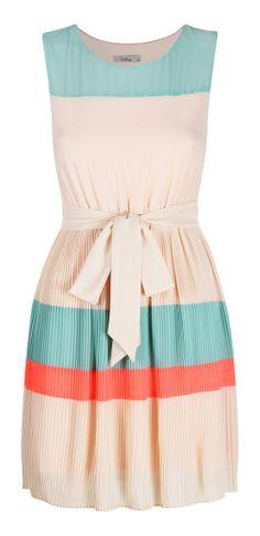 Colorblock Stripes Dress