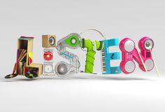Listen / Play / Watch posters for Xbox creative studio by Chris LaBrooy, via Behance