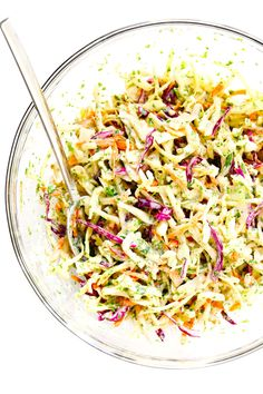 This Cilantro Lime Slaw recipe is easy to make in just 10 minutes, it tastes extra fresh and light, and it can work great as a zesty side dish or as a topping for fish tacos, burgers, sandwiches and more. Definitely a fresh and healthy slaw recipe to keep Best Shrimp Taco Recipe, Shrimp Taco Recipes, Slaw Recipes, Mexican Food Recipes, Dinner Recipes, Healthy Recipes, Ethnic Recipes, Restaurant Recipes, Chicken Recipes