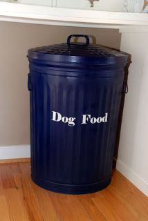 This is how I can store 40lb bags of dog food. #dogfoodstorage