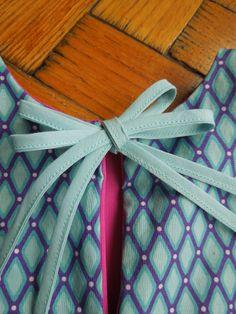 Bow for A-line reversible girldress