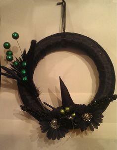 Halloween Wreath - Witches Hat