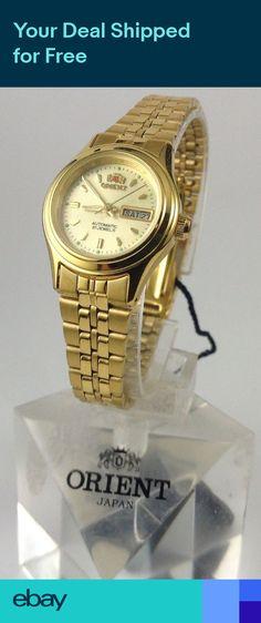 a1e350387d52 Reloj Orient Gold Tone Automatic Watch Lady FNQ0400FC W ORIENT BOX. Relojes  OrientMujeresAccesorios De ...