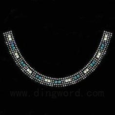 Hot Fix Motif, Rhinestone- Sweater collar-LK065