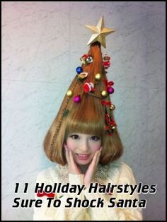 11 Holiday Hairstyles Sure To Shock Santa --- from InventorSpot.com --- for the coolest new products and wackiest inventions.