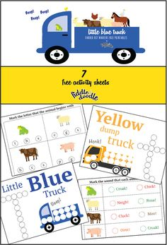 Do A Dot Markers Free Printables Inspired By The Little Blue Truck