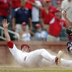 David Freese is safe at home!