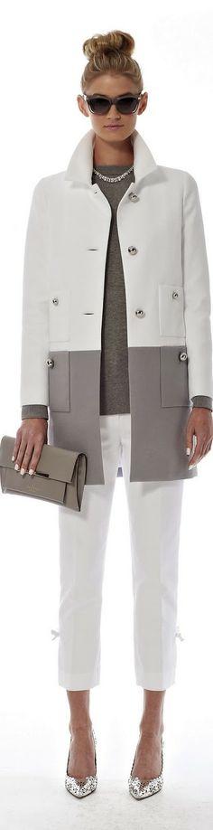 C'est si bon kate spade spring 2014. gray & white fashion