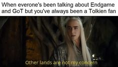LotR and Marvel fan right here! Legolas And Thranduil, Thranduil Funny, Tauriel, Bagginshield, Funny Memes, Hilarious, Marvel Fan, Middle Earth, Lord Of The Rings