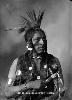 Blackfoot Indians | Item : CVA 586-4 - Chief-Boy - Blackfeet Indian