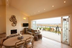 Large Luxury Beach House Devon, exclusive self catering private house with Sea Views, Porlock Weir, Exmoor, Devon, UK.